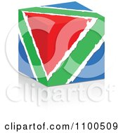 Clipart 3d Torn Paper Colorful Cube In Red Green And Blue Colors Royalty Free Vector Illustration by Andrei Marincas