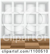 Clipart 3d Cubic Wall Shelves Or Cubbies Royalty Free Vector Illustration