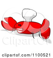 Clipart Cartoon Happy Chef Crab 4 Royalty Free Illustration