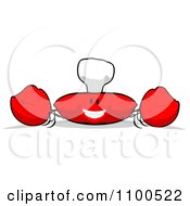 Clipart Cartoon Happy Chef Crab 5 Royalty Free Illustration