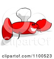 Clipart Cartoon Happy Chef Crab 6 Royalty Free Illustration