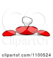 Clipart Cartoon Sad Chef Crab 2 Royalty Free Illustration