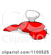 Clipart Cartoon Sad Chef Crab 1 Royalty Free Illustration