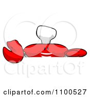 Clipart Cartoon Chef Crab Holding A Sign 3 Royalty Free Illustration