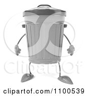 Clipart 3d Trash Can Facing Front Royalty Free CGI Illustration