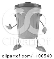 Clipart 3d Trash Can Presenting Royalty Free CGI Illustration