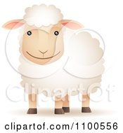 Clipart Happy Sheep Smiling Royalty Free Vector Illustration