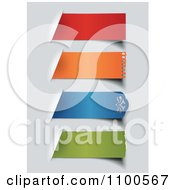 Clipart 3d Colorful Torn Paper Labels On Gray Royalty Free Vector Illustration by Eugene