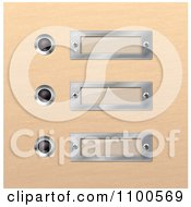 Clipart 3d Modern Silver Plaques In Wood Royalty Free Vector Illustration by Eugene