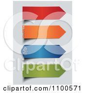 Clipart 3d Colorful Paper Arrows On Gray Royalty Free Vector Illustration by Eugene