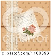 Clipart Victorian Rose Love Letter Tucked In Lace Royalty Free Vector Illustration by Eugene