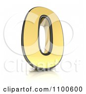 Clipart 3d Golden Digit Number 0 Royalty Free CGI Illustration