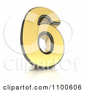 Clipart 3d Golden Digit Number 6 Royalty Free CGI Illustration by stockillustrations