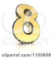 Clipart 3d Golden Digit Number 8 Royalty Free CGI Illustration by stockillustrations