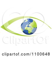 Clipart Blue And Green Global Eye Royalty Free Vector Illustration