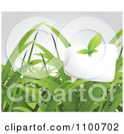 Clipart Leaf Butterfly With A Word Balloon Over Grass Royalty Free Vector Illustration by creativeapril