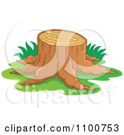 Tree Stump With Grass