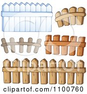 Clipart Wooden Fences Royalty Free Vector Illustration