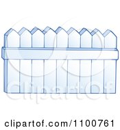 Clipart White Wooden Fence Royalty Free Vector Illustration