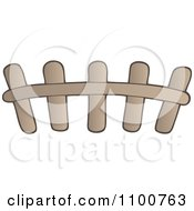 Clipart Wooden Picket Fence 2 Royalty Free Vector Illustration