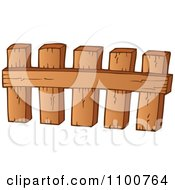 Clipart Wooden Picket Fence 3 Royalty Free Vector Illustration