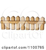 Clipart Wooden Picket Fence 4 Royalty Free Vector Illustration