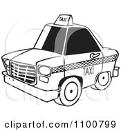 Outlined City Taxi Cab