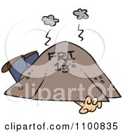 Clipart Man Trapped Under Friday The 13th Royalty Free Vector Illustration