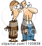 Clipart Gothic Farm Couple With A Pitch Fork Royalty Free Vector Illustration