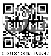 Clipart Black And White Buy Me QR Code Royalty Free Vector Illustration by michaeltravers
