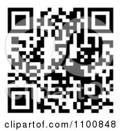 Clipart Black And White QR Code Royalty Free Vector Illustration