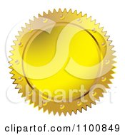 Clipart Gold Wax Seal Design Element Royalty Free Vector Illustration by michaeltravers