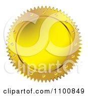 Gold Wax Seal Design Element