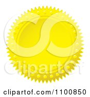 Clipart Golden Wax Seal Design Element Royalty Free Vector Illustration by michaeltravers