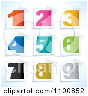 Clipart Colorful Blocky Numbers On Taped Papers Royalty Free Vector Illustration by michaeltravers