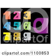 Clipart Blocky Numbers With Text And Copy Space On Black Royalty Free Vector Illustration by michaeltravers