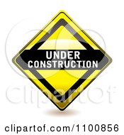 Clipart Yellow Diamond Under Construction Sign Royalty Free Vector Illustration
