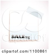 Clipart Blank White Sale Tag With Tape Royalty Free Vector Illustration