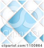 Blue And White Diamond Background With Copy Space