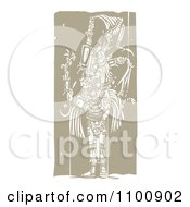 Clipart Mayan King Brown And Beige Royalty Free Vector Illustration