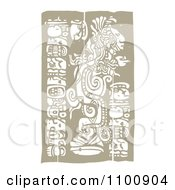 Clipart Mayan God And Totems Brown And Beige Royalty Free Vector Illustration
