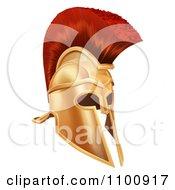 Clipart 3d Corinthian Bronze Trojan Spartan Roman Greek Helmet Royalty Free Vector Illustration