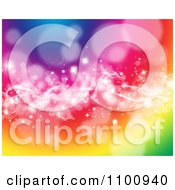 Clipart Vibrant Colorful Background Of Smoke Sparkles And Flares Royalty Free CGI Illustration by KJ Pargeter
