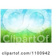 Clipart Magic Flares Of Light Over Green Grass And Blue Sky Royalty Free CGI Illustration
