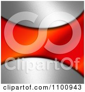 Clipart 3d Silver And Red Wave Background Royalty Free CGI Illustration