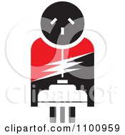 Clipart Power Plug And Socket In Red Black And White Royalty Free Vector Illustration