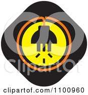 Clipart Power Plug And Socket In A Black Diamond Royalty Free Vector Illustration
