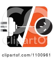 Clipart Power Plug And Socket With A Check Mark In Orange Black And White Royalty Free Vector Illustration