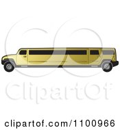 Clipart Gold Stretch Limo Hummer Royalty Free Vector Illustration by Lal Perera