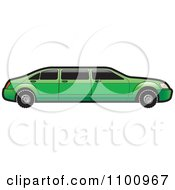 Clipart Green Stretch Limo Car Royalty Free Vector Illustration by Lal Perera